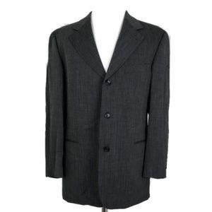 Hugo Boss Men's Gray 3-Button Wool Blend Blazer